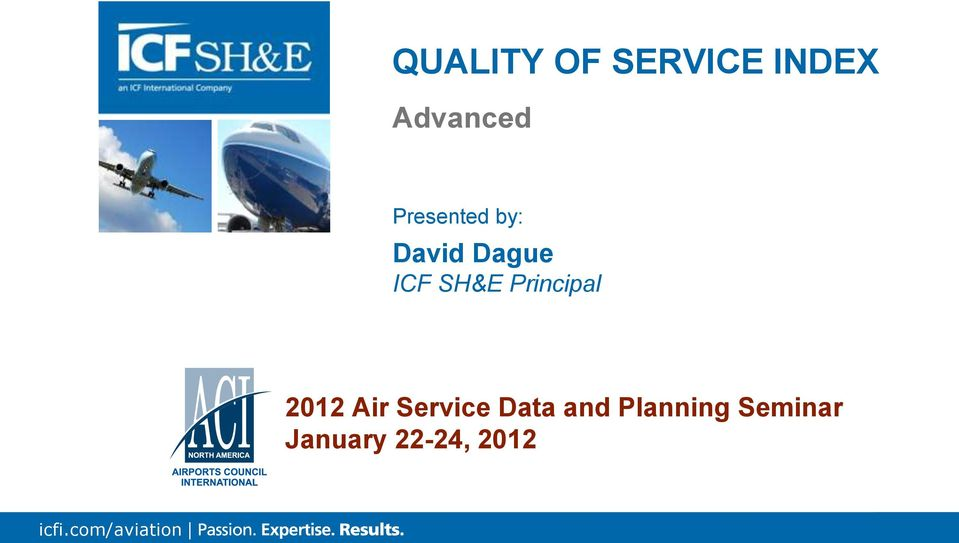 Principal 2012 Air Service Data and