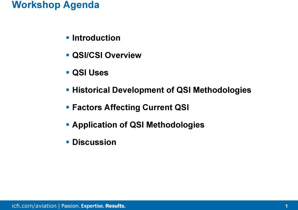 QSI Methodologies Factors Affecting Current