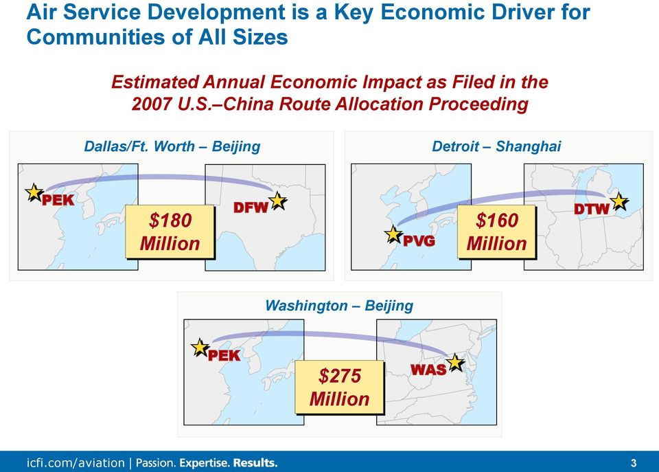 Worth Beijing Detroit Shanghai PEK $180 Million DFW PVG $160 Million DTW