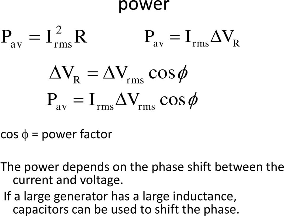 shift between the current and voltage.