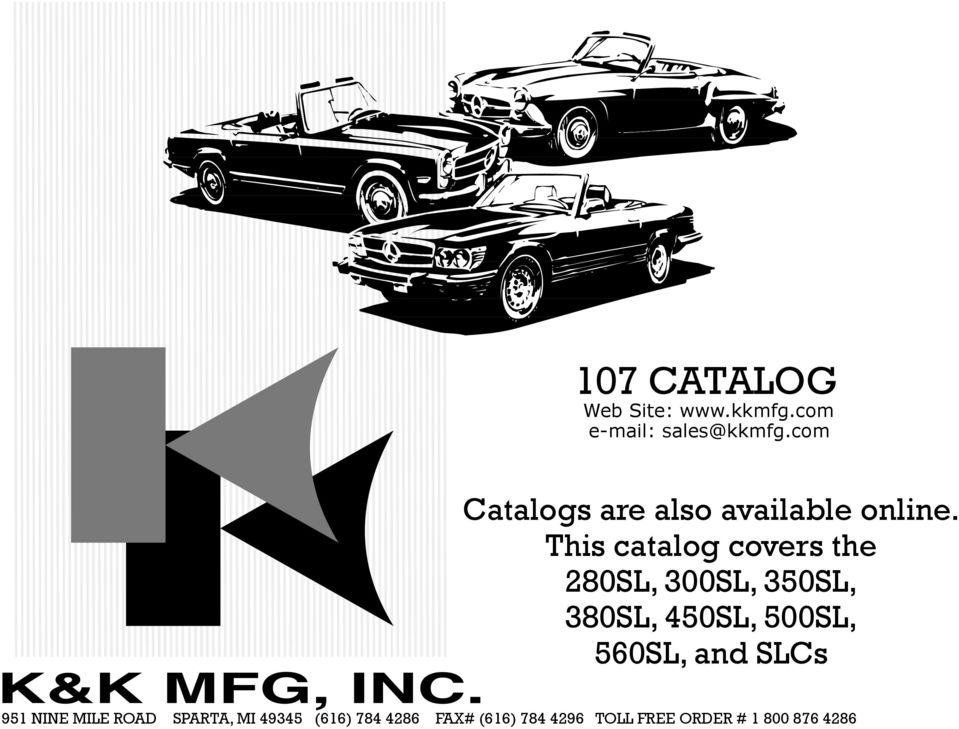 107 catalog catalogs are also available online this for Mercedes benz 560sl parts catalog