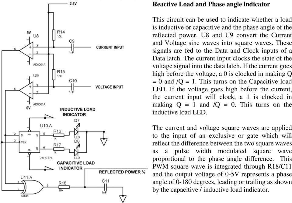 The current input clocks the state of the voltage signal into the data latch. If the current goes high before the voltage, a 0 is clocked in making Q = 0 and /Q = 1.