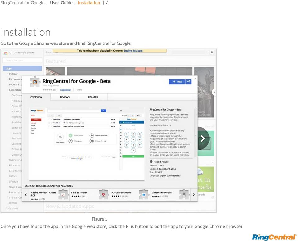 Figure 1 Once you have found the app in the Google web store,