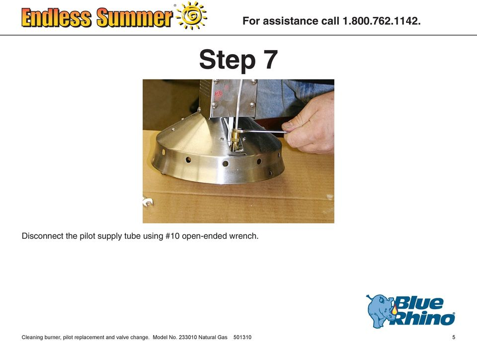 Cleaning burner, pilot replacement and