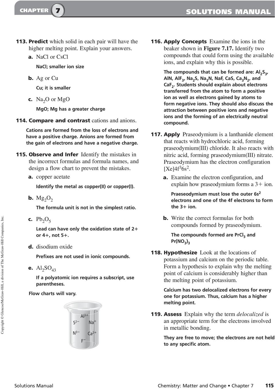 worksheet Teaching Transparency Worksheet Metallic Bonding ionic compounds and metals pdf anions are formed from the gain of electrons have a negative charge 115