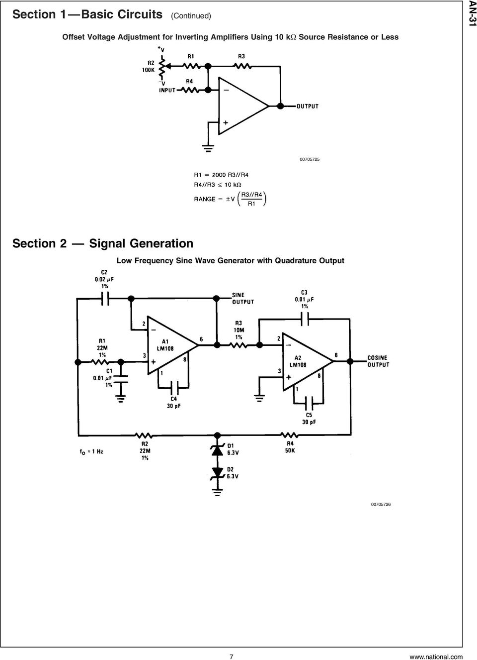 Resistance or Less 00705725 Section 2 Signal Generation Low