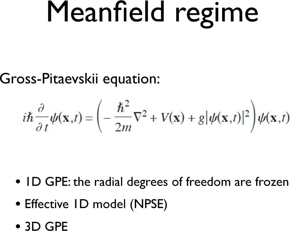 GPE: the radial degrees of