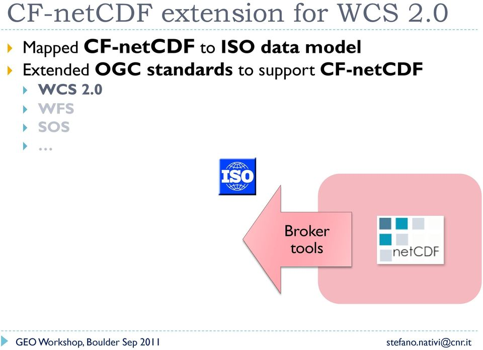 Extended OGC standards to support