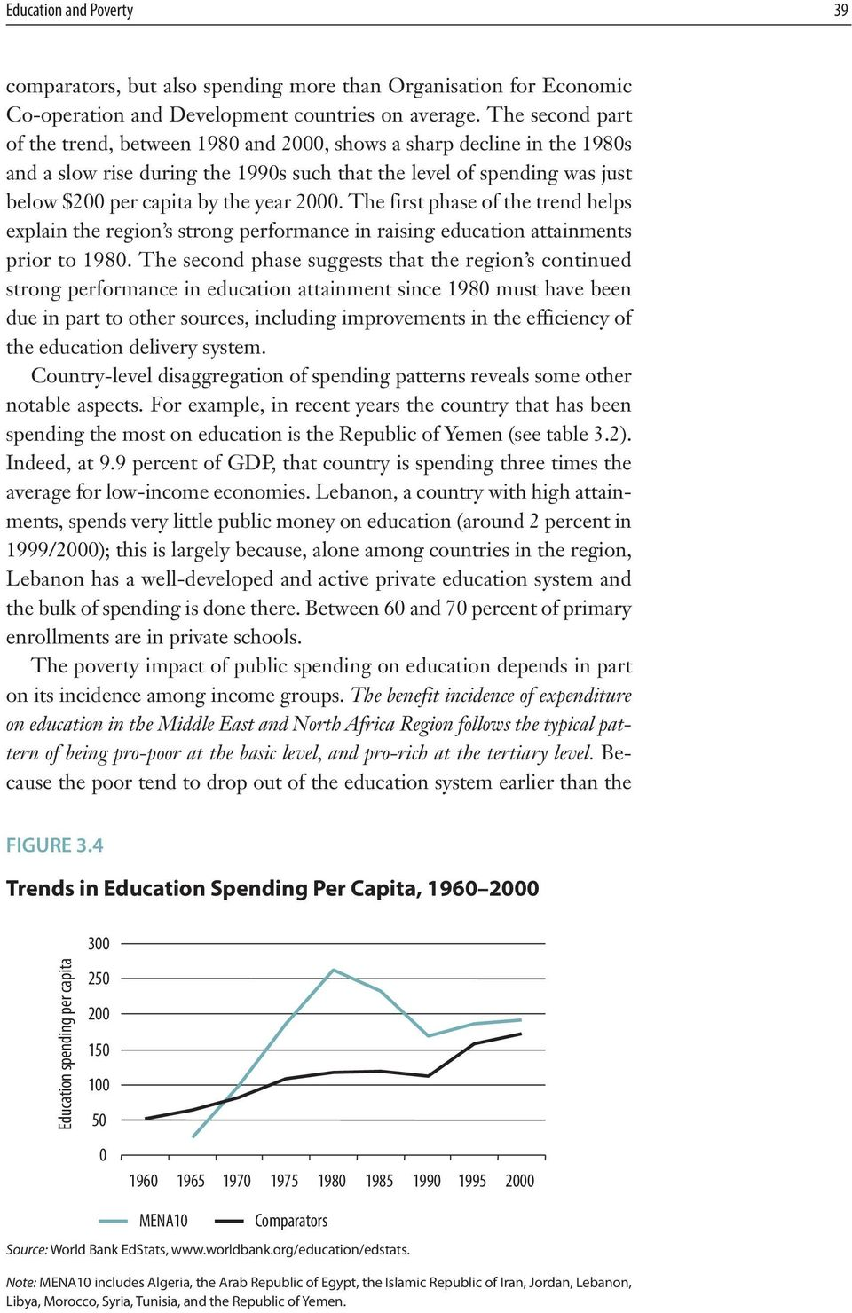 2000. The first phase of the trend helps explain the region s strong performance in raising education attainments prior to 1980.