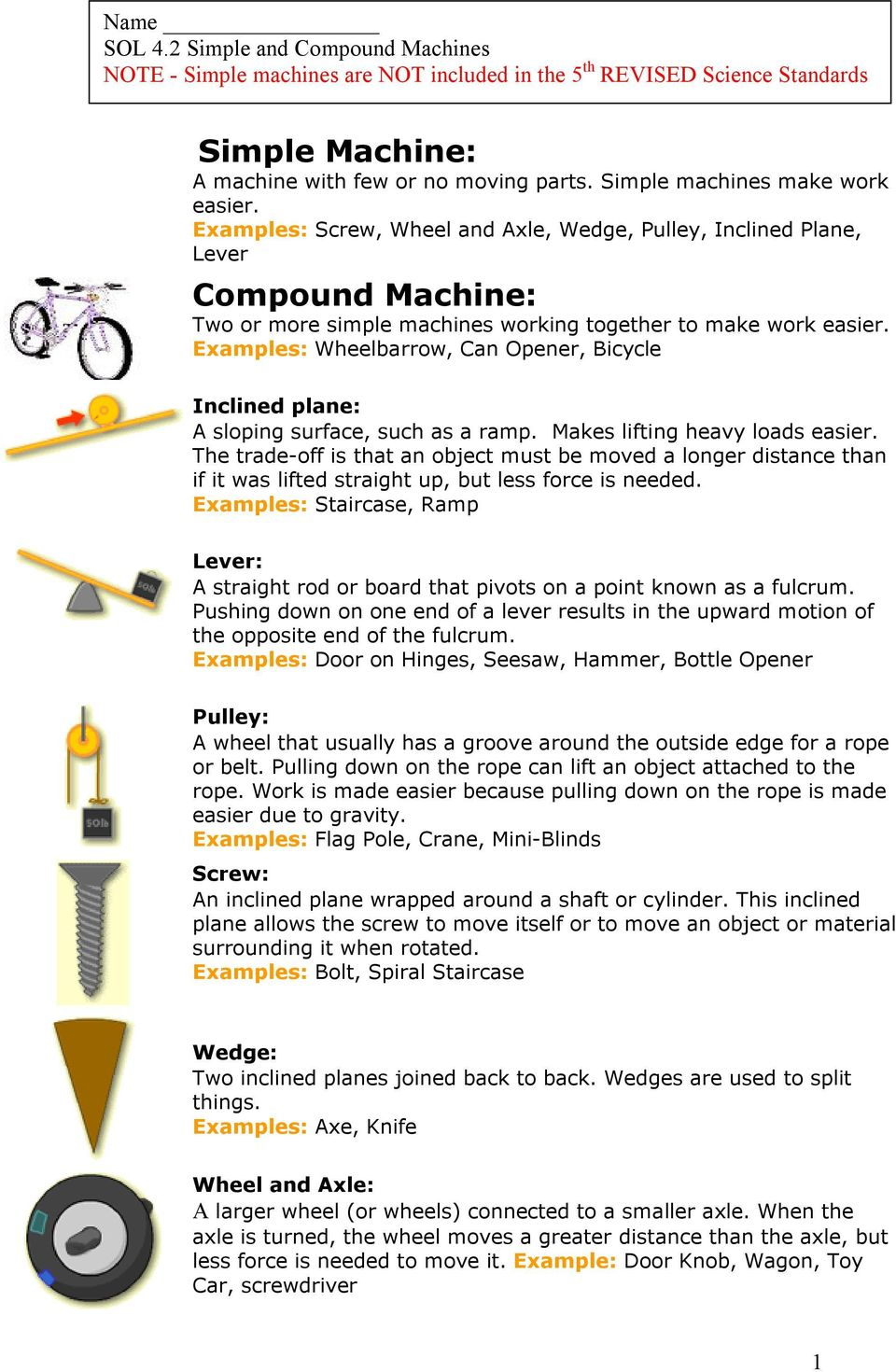 compound machine physics What are some examples of simple machines that you have used how does a  simple machine relate to a compound machine (eg, bicycle) what are some.