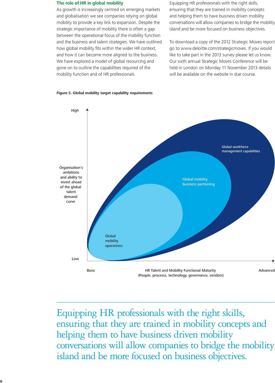 We have outlined how global mobility fits within the wider HR context, and how it can become more aligned to the business.