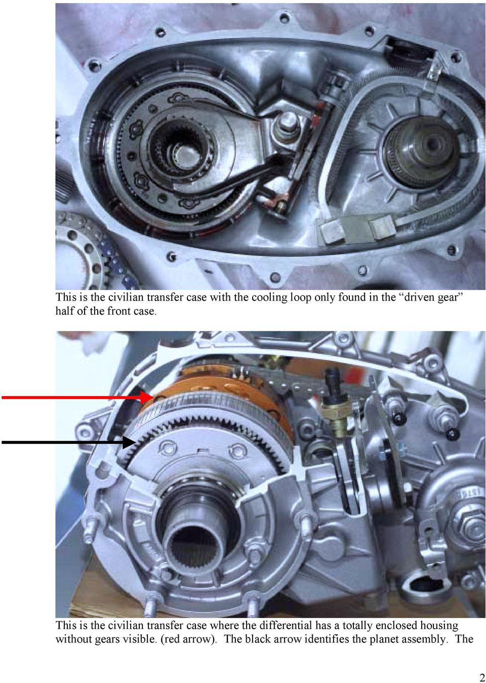 This is the civilian transfer case where the differential has a totally