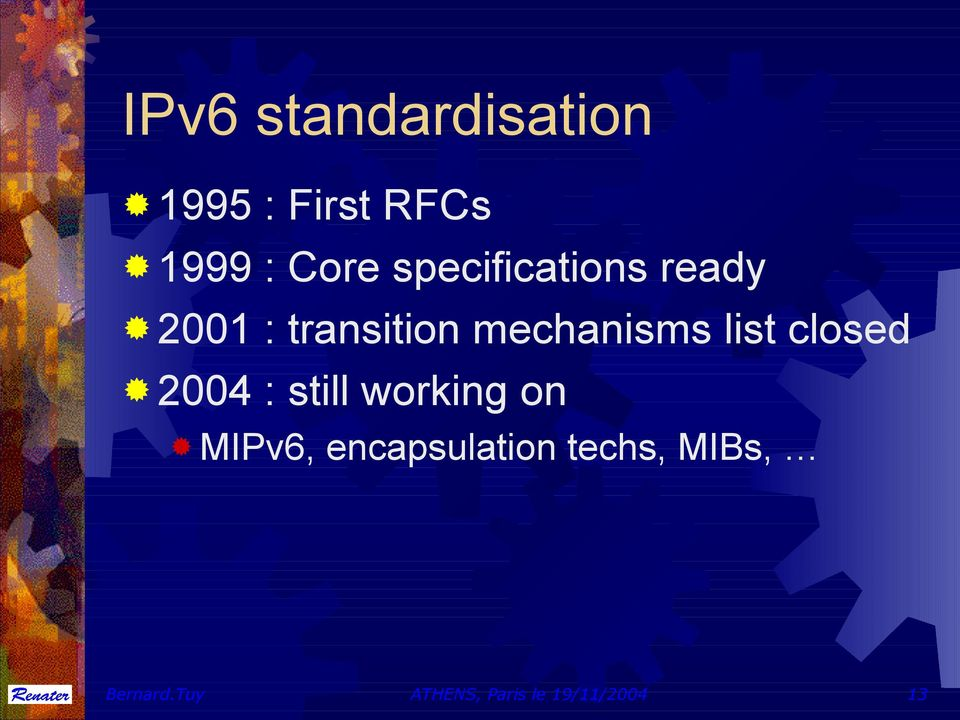list closed 2004 : still working on MIPv6,