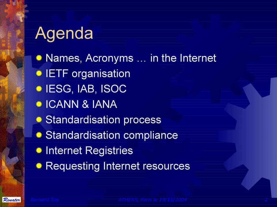Standardisation compliance Internet Registries
