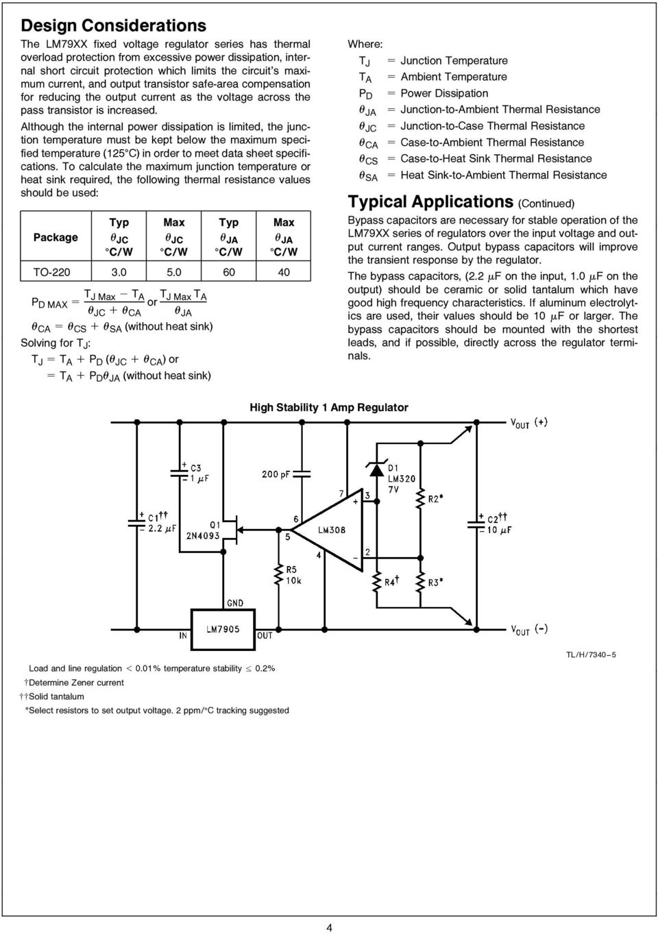 junction temperature must be kept below the maximum specified temperature (125 C) in order to meet data sheet specifications To calculate the maximum junction temperature or heat sink required the