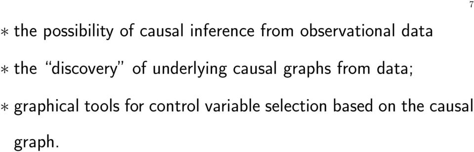 underlying causal graphs from data; graphical