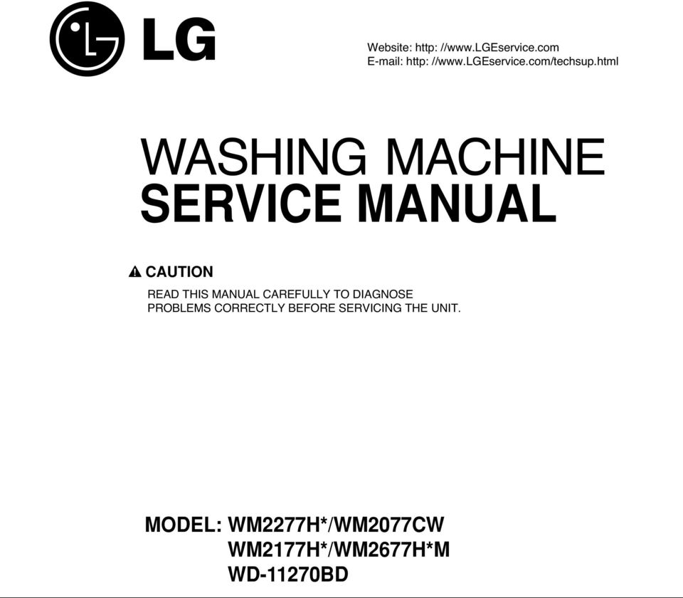 Washing Machine Read This Manual Carefully To Diagnose Problems Kenmore 70 Series Washer Parts Diagram Besides 80 Caution Diagse Correctly