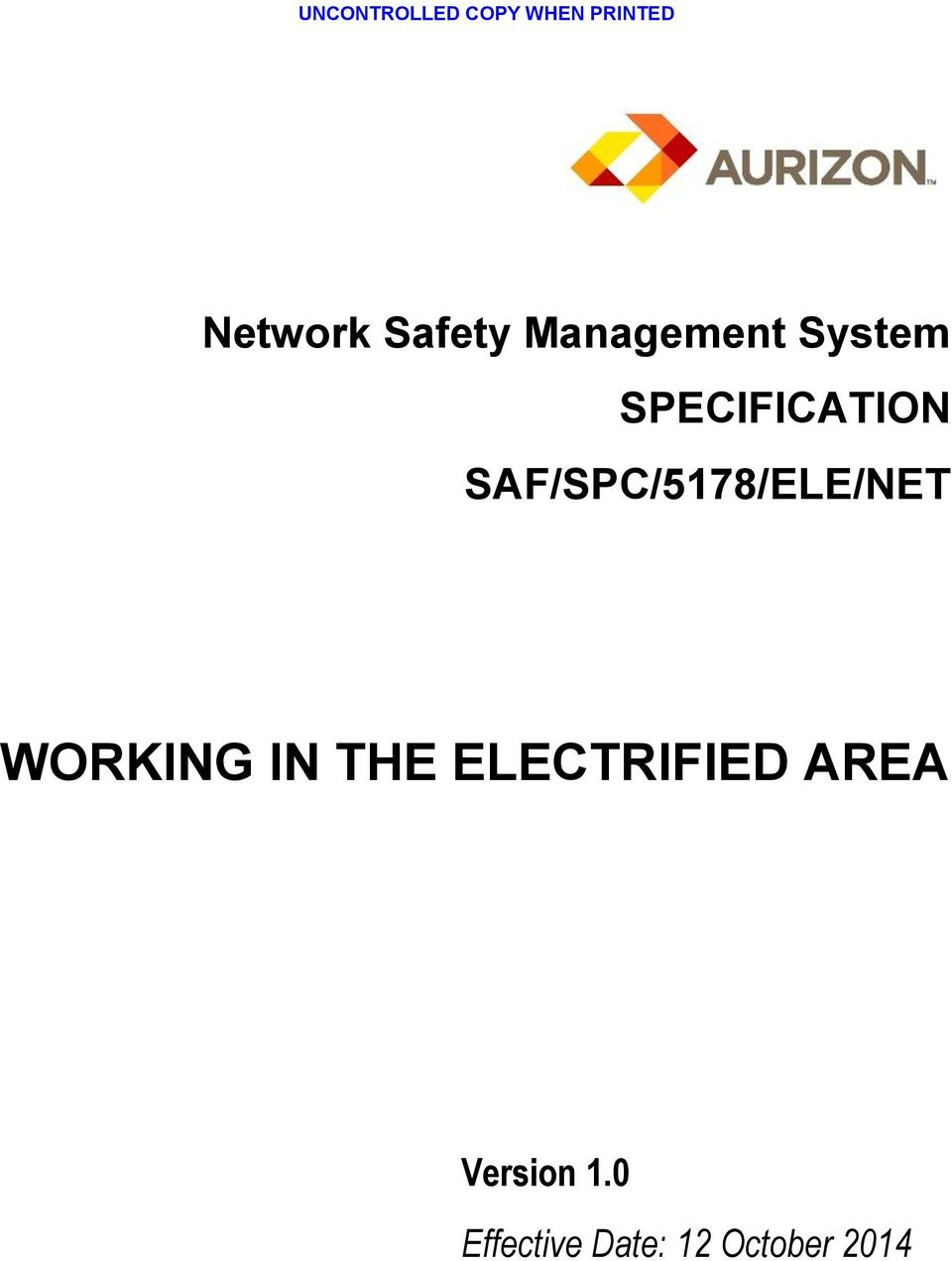 IN THE ELECTRIFIED AREA Version 1.