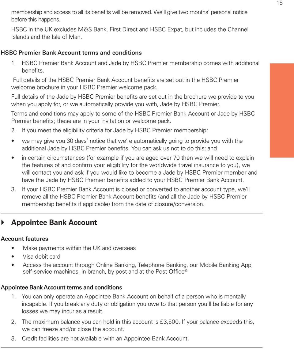 Personal Banking  Terms and Conditions and Charges  Effective from 1