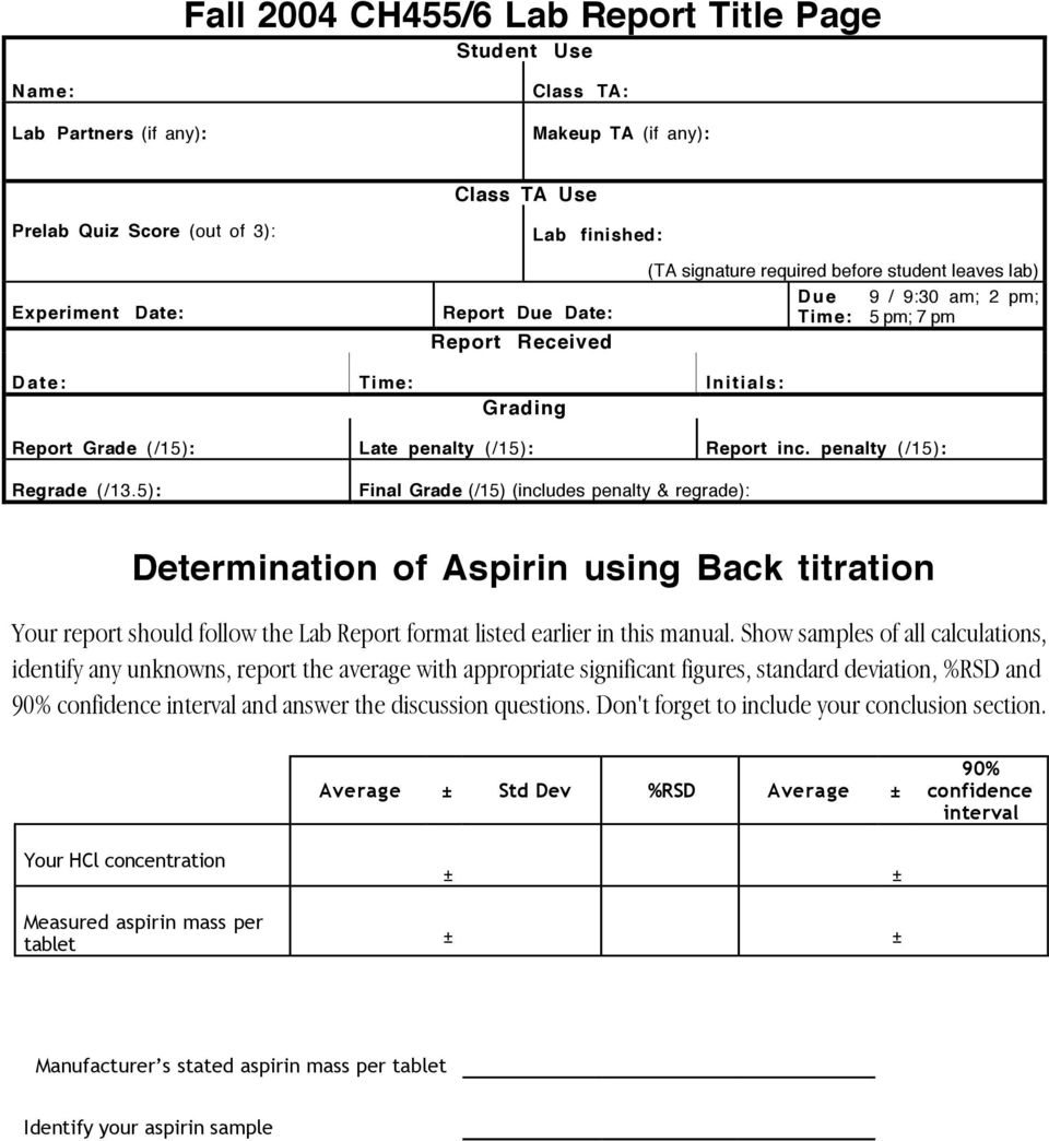 titration analysis of aspirin tablets On jun 30, 2001, cosimo a de caro published the chapter: titration in the pharmaceutical industry, usercom 6, mettler-toledo.