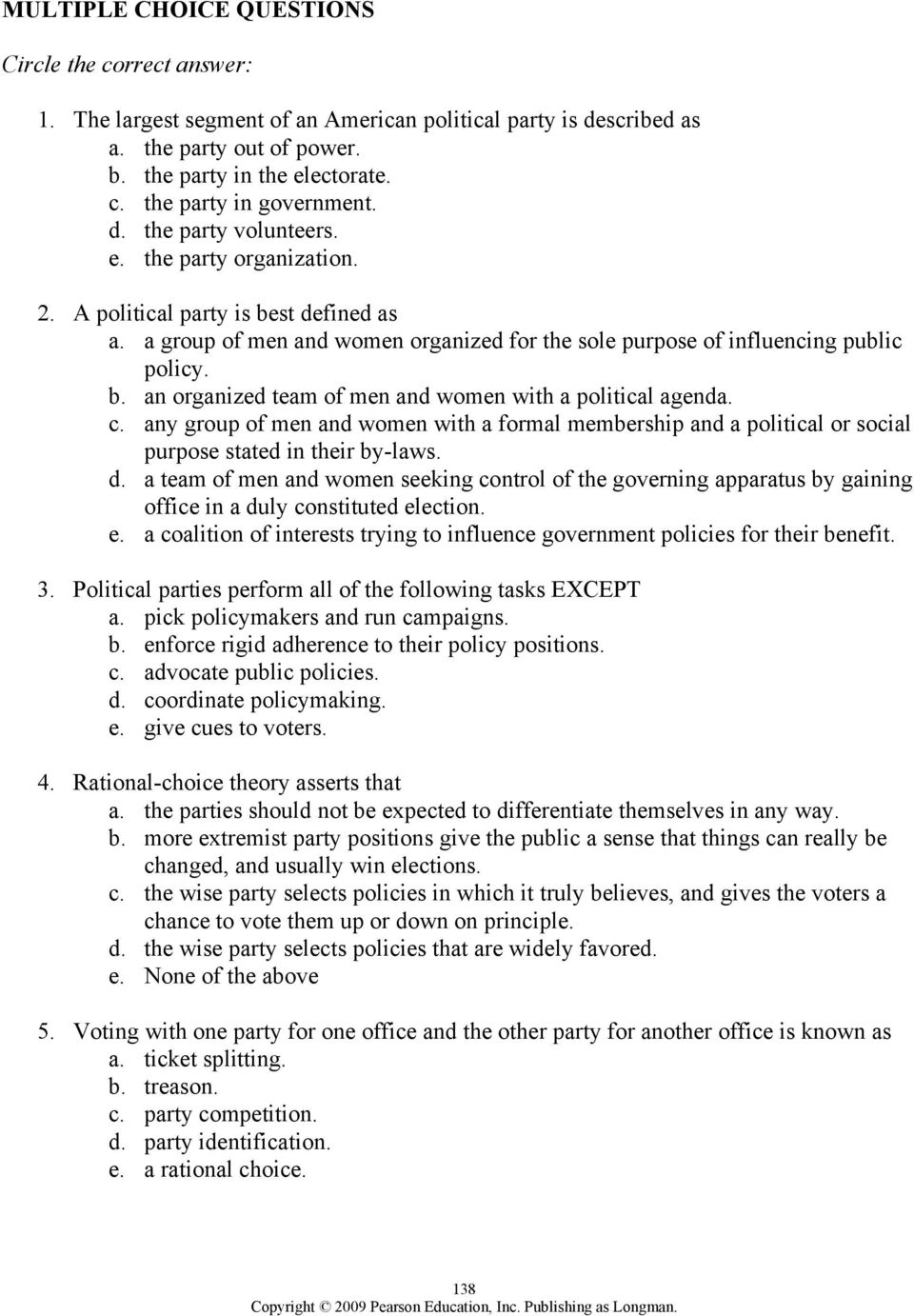 worksheet The Populist Movement The Value Of Third Parties Worksheet Answers chapter 8 political parties outline pdf c any group of men and women with a formal membership or