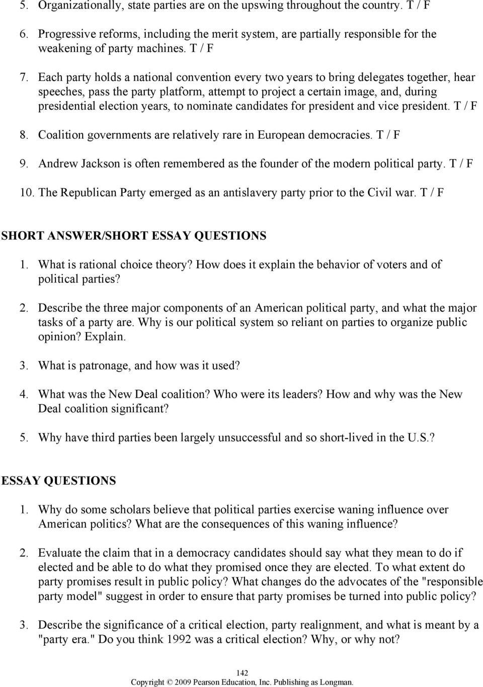 worksheet The Populist Movement The Value Of Third Parties Worksheet Answers chapter 8 political parties outline pdf each party holds a national convention every two years to bring delegates together hear speeches