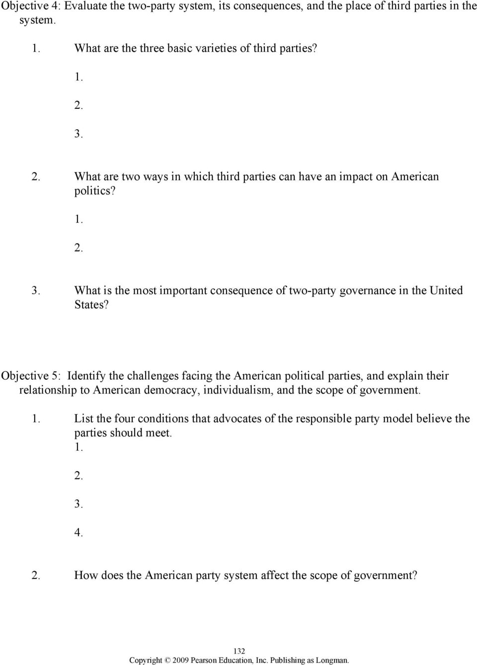worksheet The Populist Movement The Value Of Third Parties Worksheet Answers chapter 8 political parties outline pdf what is the most important consequence of two party governance in united states