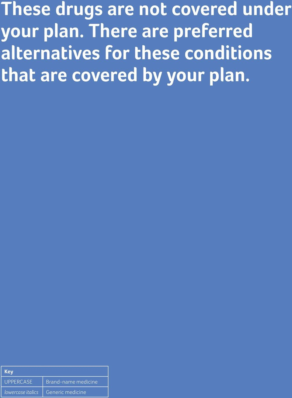 conditions that are covered by your plan.