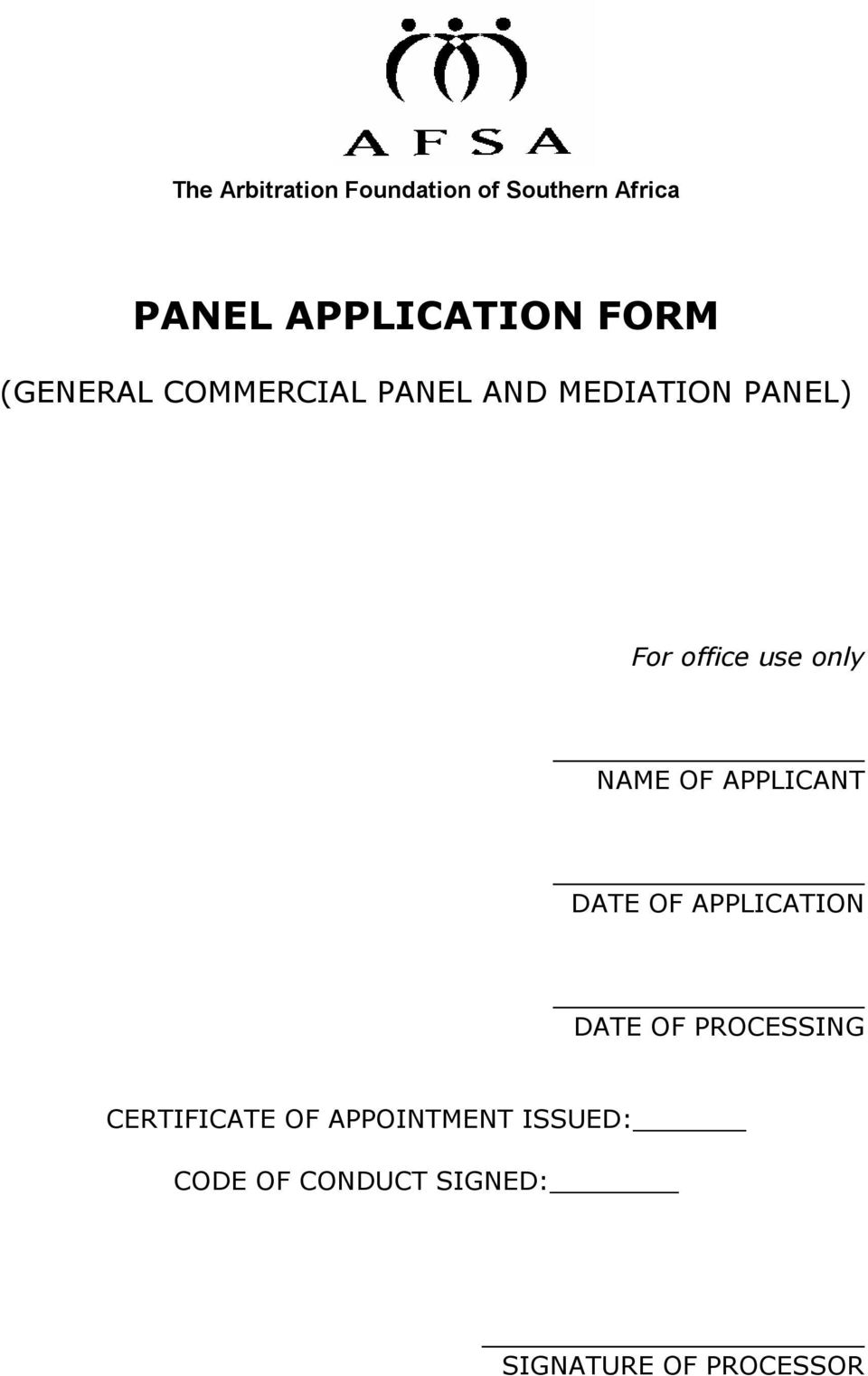 NAME OF APPLICANT DATE OF APPLICATION DATE OF PROCESSING CERTIFICATE
