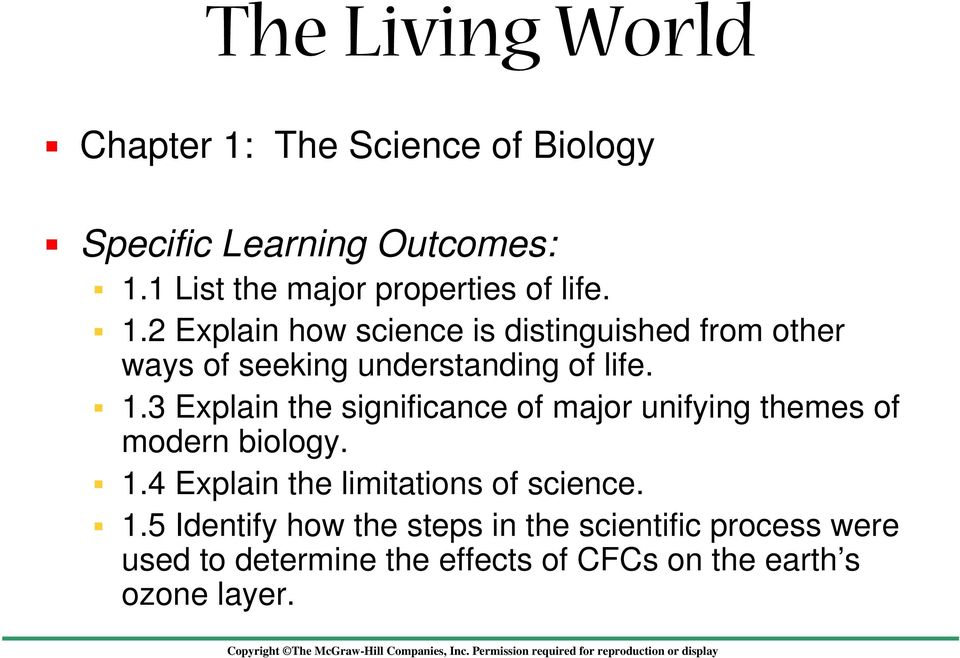 2 Explain how science is distinguished from other ways of seeking understanding of life. 1.