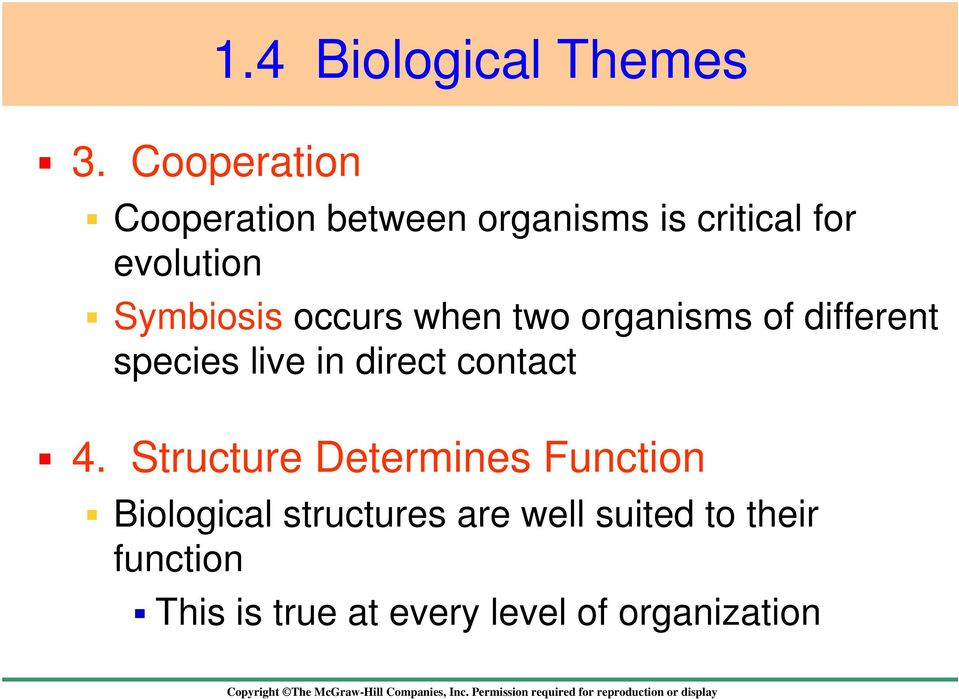 Symbiosis occurs when two organisms of different species live in direct