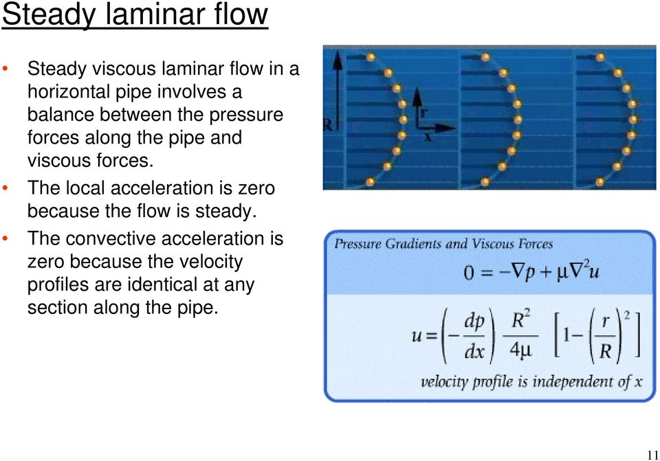 The local acceleration is zero because the flow is steady.