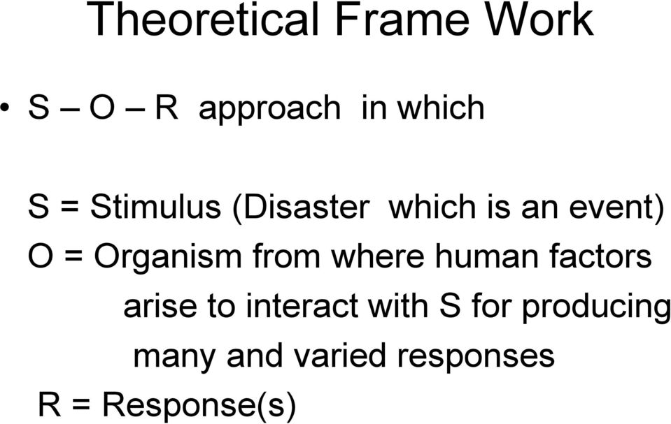 from where human factors arise to interact with S