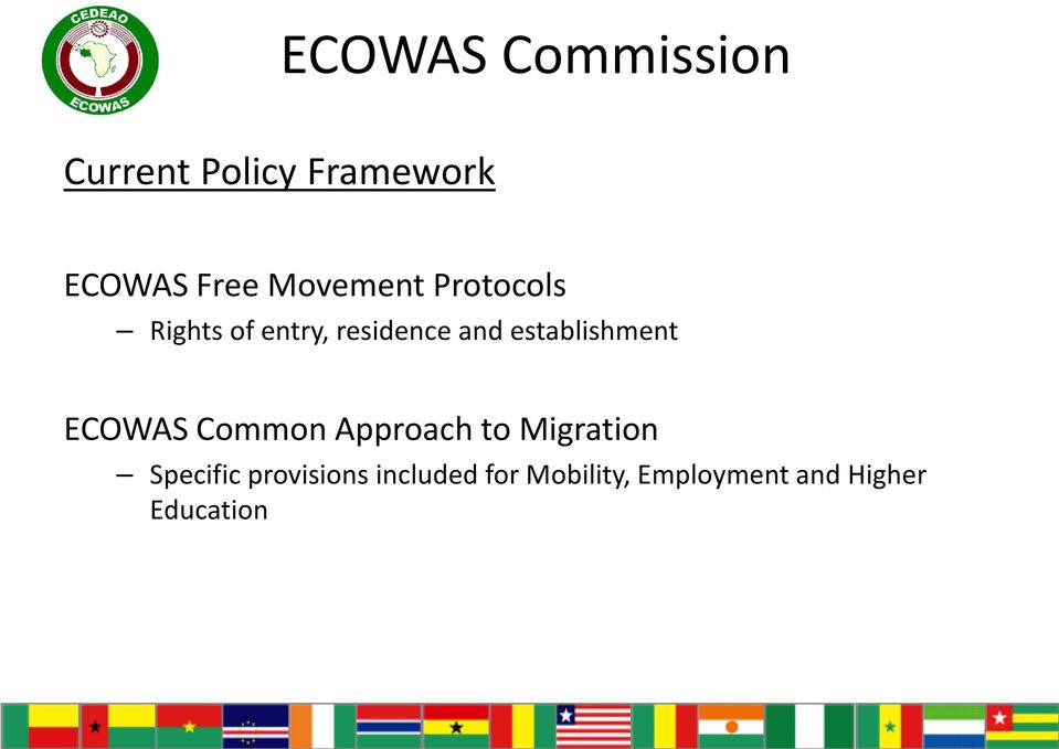 establishment ECOWAS Common Approach to Migration