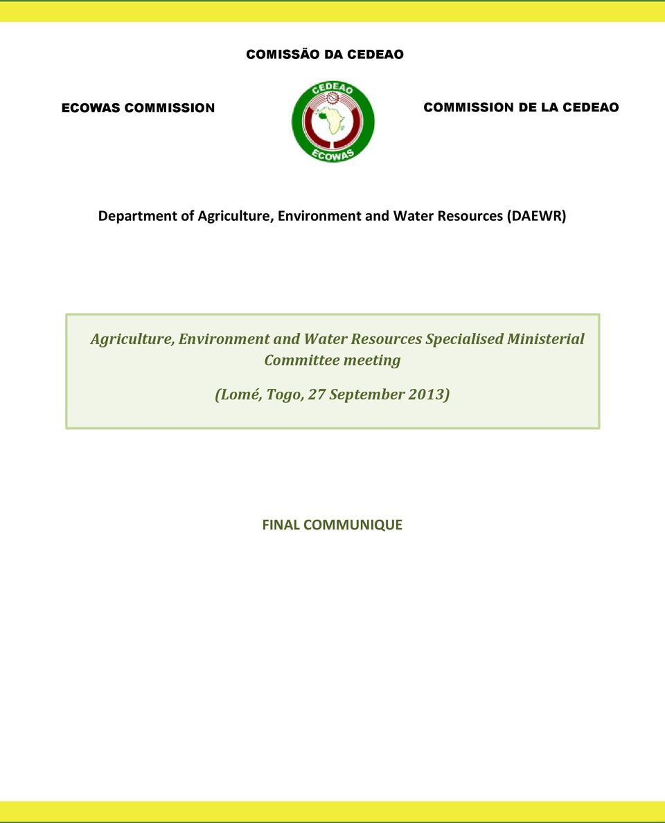 (DAEWR) Agriculture, Environment and Water Resources Specialised