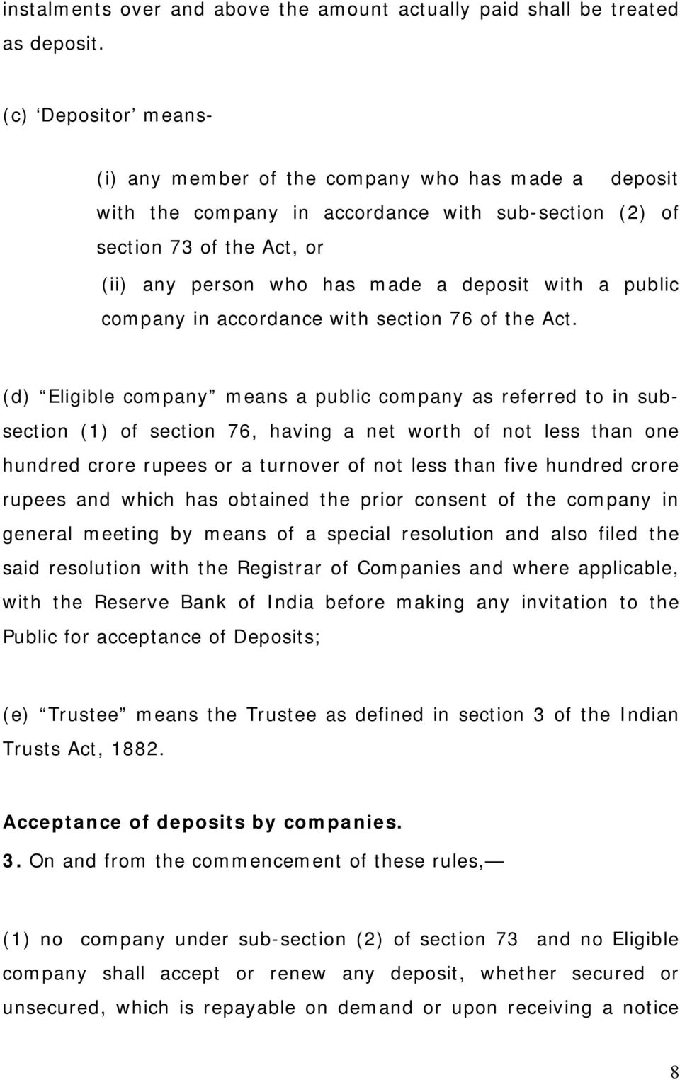 a public company in accordance with section 76 of the Act.