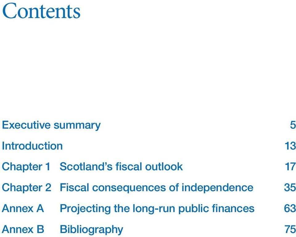 Fiscal consequences of independence 35 Annex A