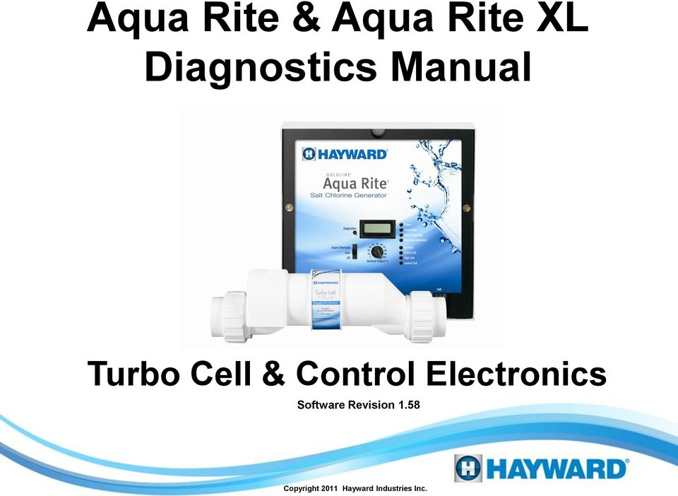 Aqua Rite Amp Aqua Rite Xl Diagnostics Manual Pdf border=