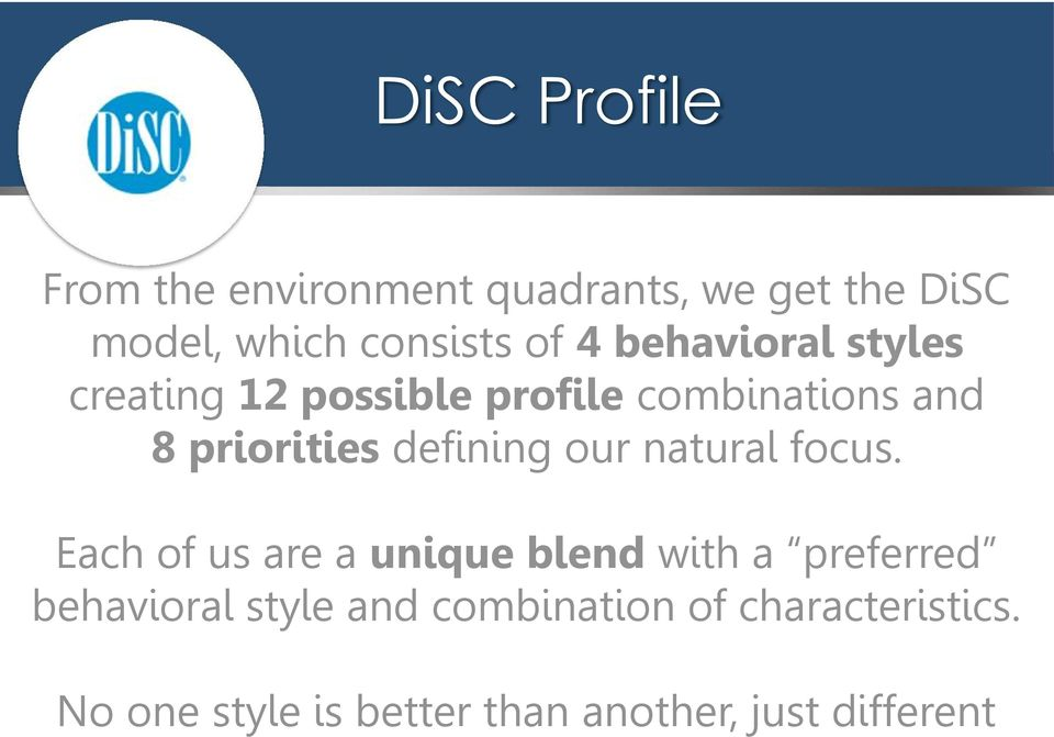 defining our natural focus.