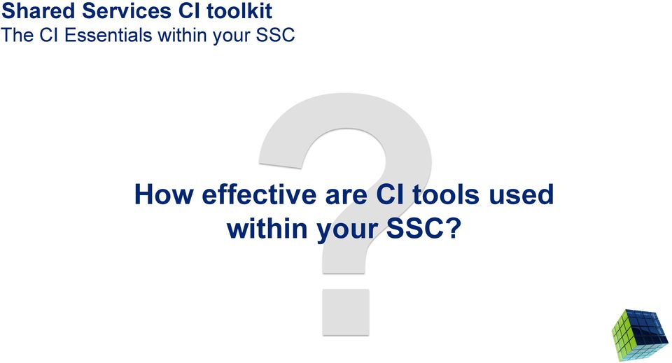 your SSC How effective are