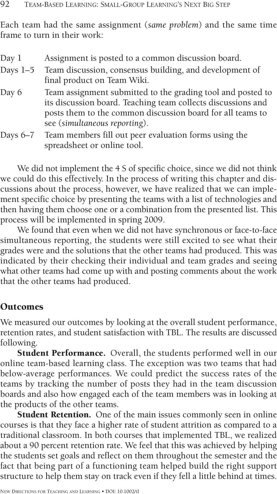 Team assignment submitted to the grading tool and posted to its discussion board.
