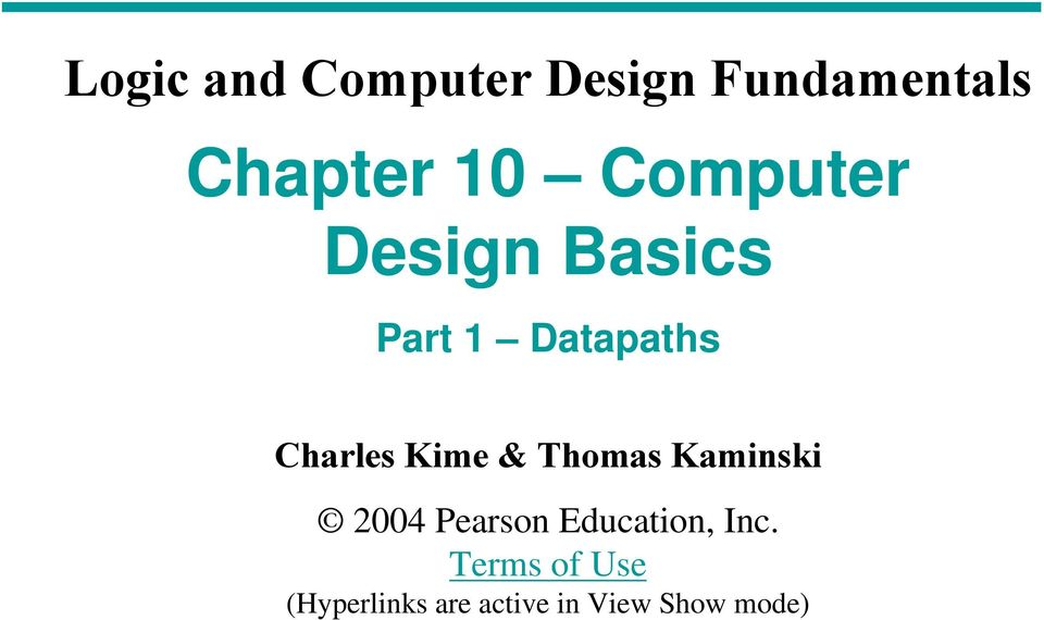 Kime & Thomas Kamiski 2004 Pearso Educatio, Ic.