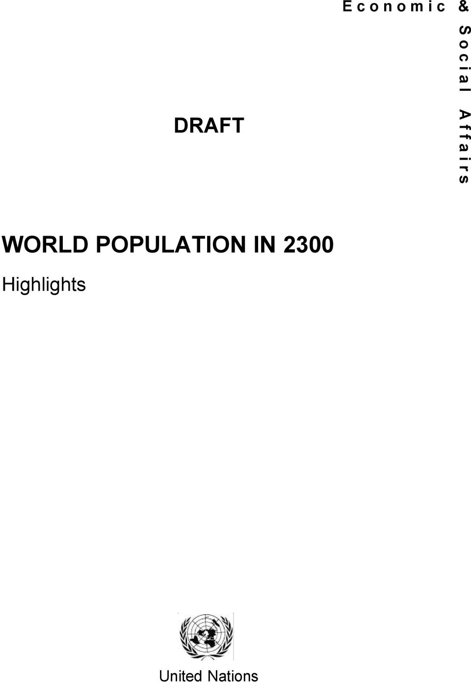 s WORLD POPULATION IN