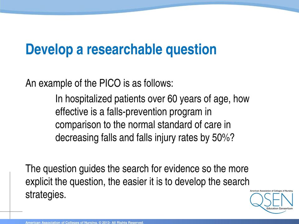 standard of care in decreasing falls and falls injury rates by 50%?