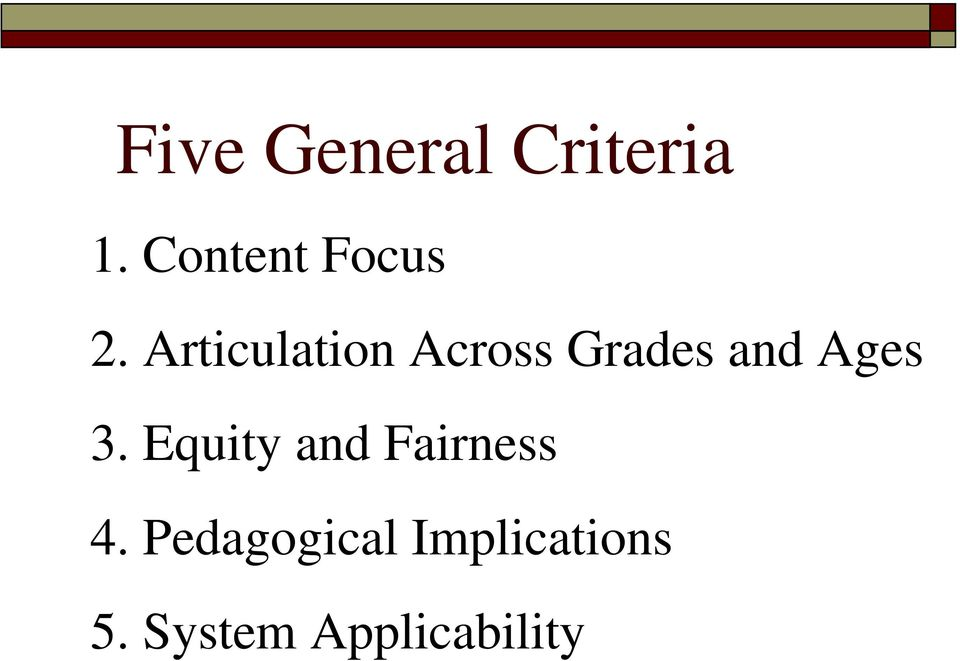 Articulation Across Grades and Ages 3.