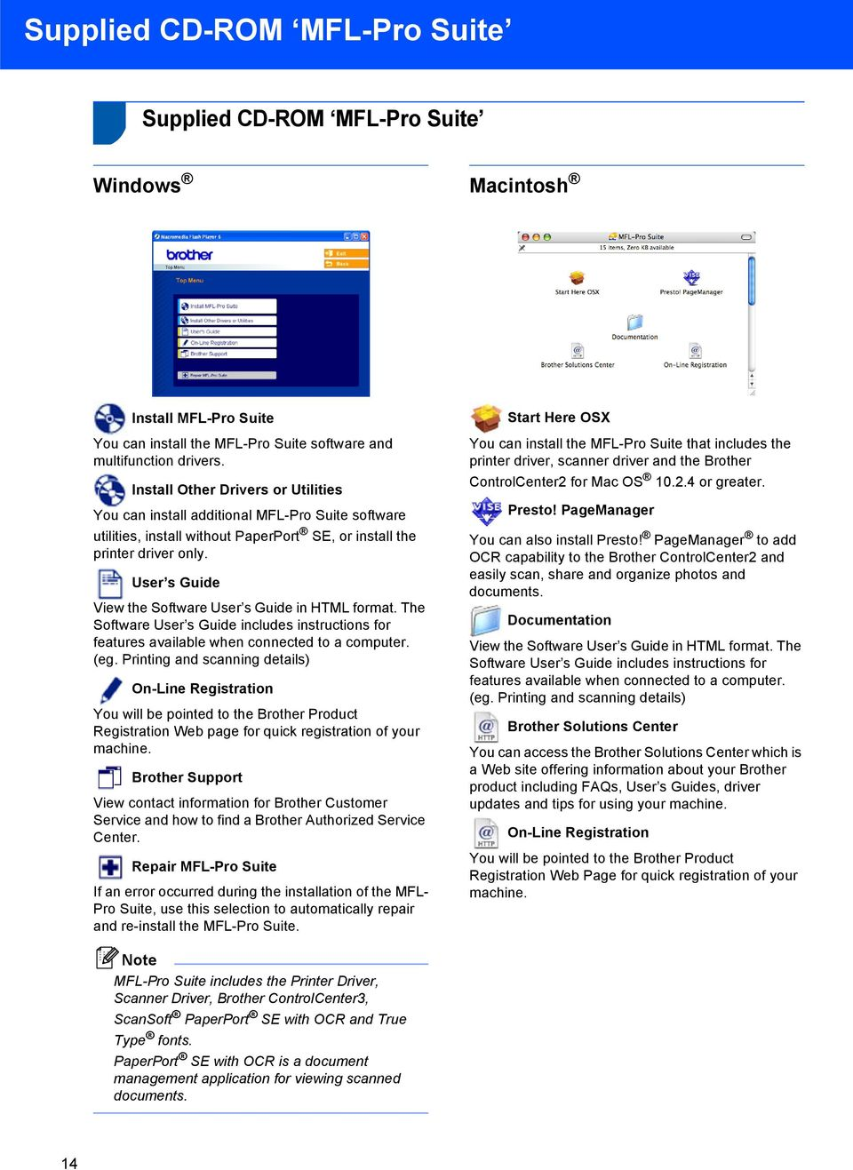 User s Guide View the Software User s Guide in HTML format. The Software User s Guide includes instructions for features available when connected to a computer. (eg.