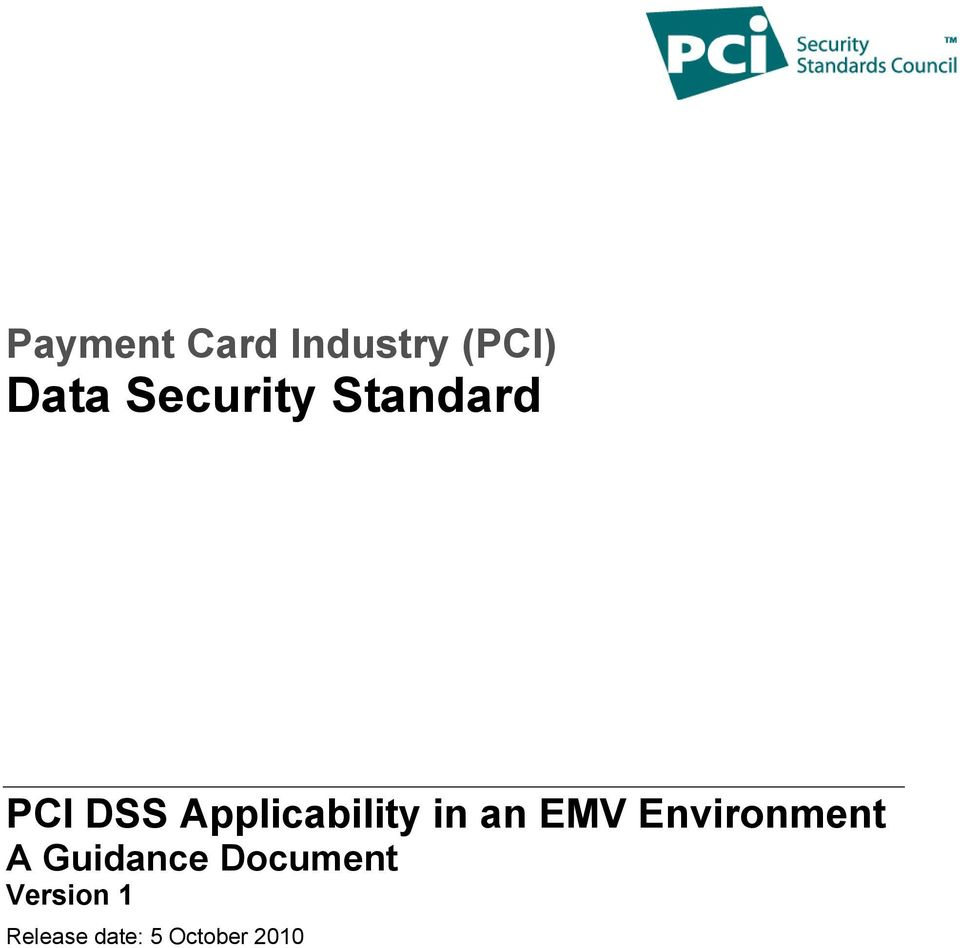 Applicability in an EMV Environment A