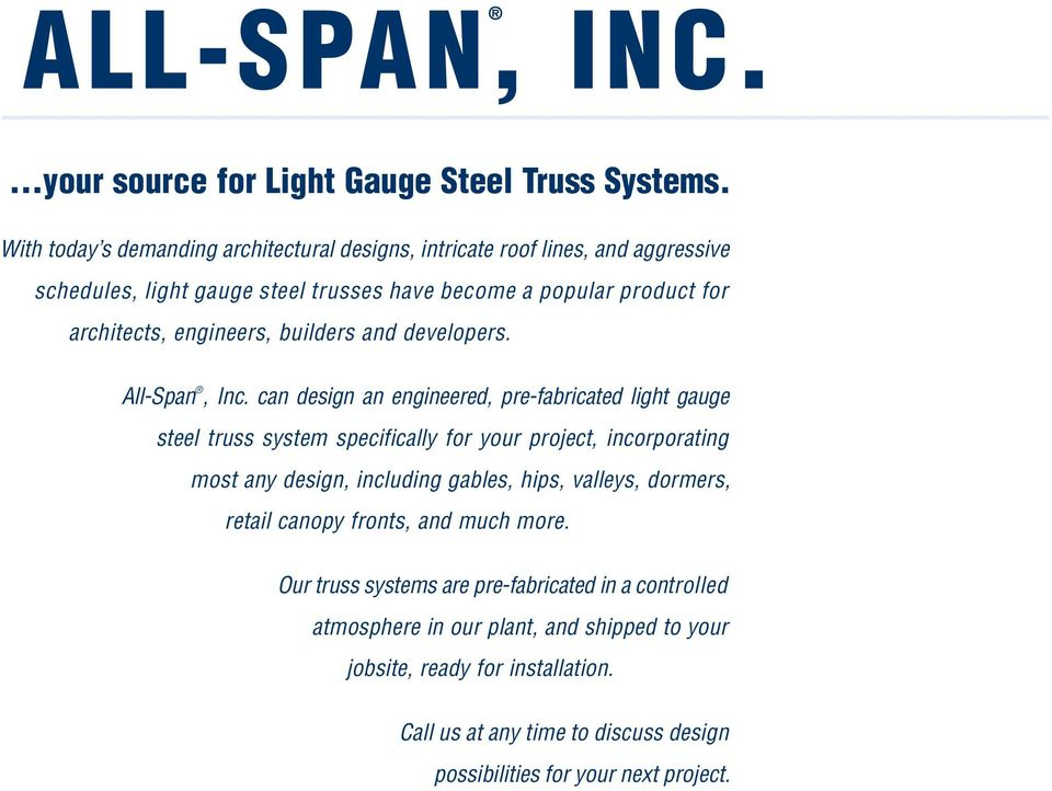 Your Source For Complete Light Gauge Steel Truss Systems Pdf Free Download