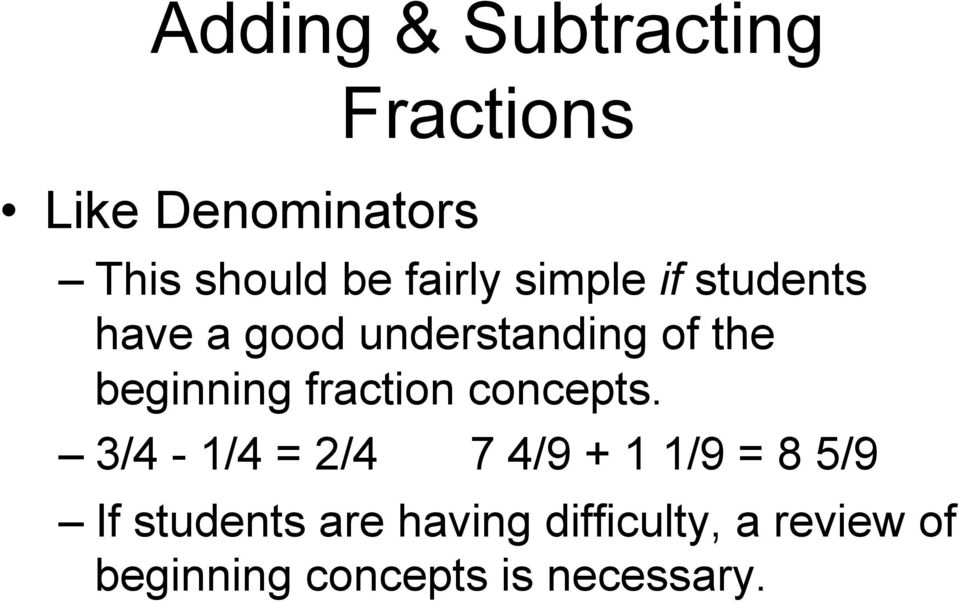 beginning fraction concepts.