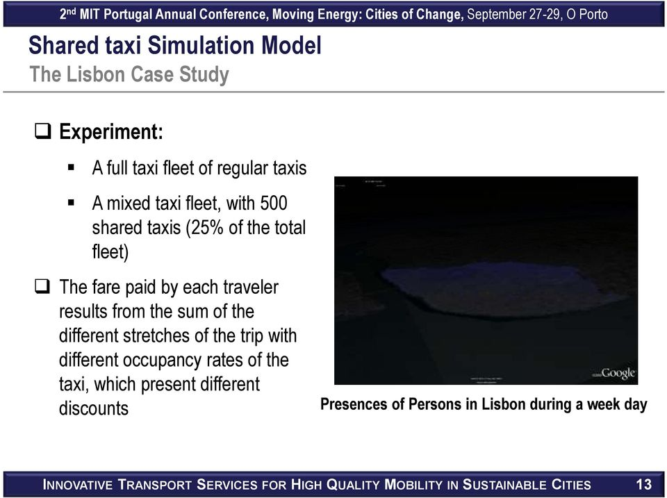 different stretches of the trip with different occupancy rates of the taxi, which present different discounts